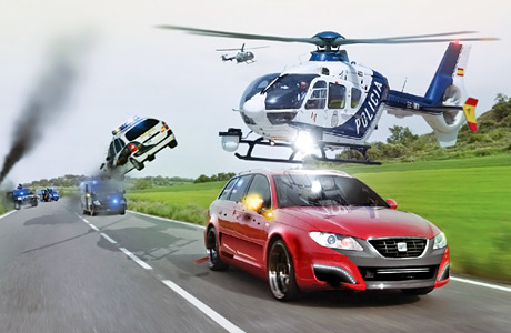 SEAT_Exeo_vs_police_car